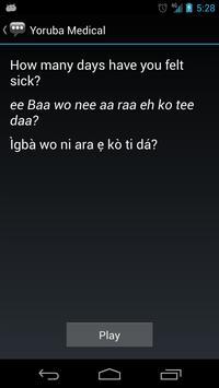Yoruba Medical Phrases apk screenshot