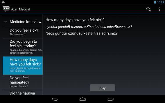Azeri Medical Phrases apk screenshot