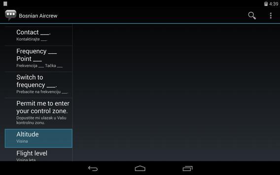 Bosnian Aircrew Phrases apk screenshot