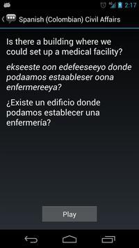 Spanish (Colombia) Civil Aff. apk screenshot