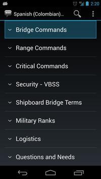 Spanish (Colombia) Naval apk screenshot