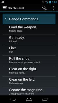 Czech Naval Phrases apk screenshot