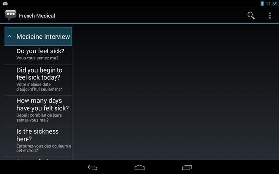 French Medical Phrases apk screenshot