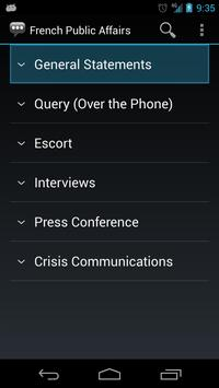 French Public Affairs Phrases apk screenshot