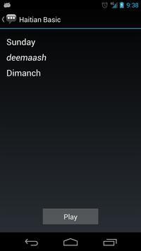 Haitian Basic Phrases apk screenshot