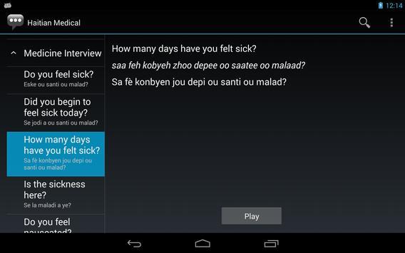 Haitian Medical Phrases apk screenshot