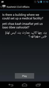 Kashmiri Civil Affairs Phrases apk screenshot
