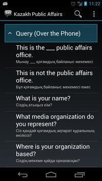Kazakh Public Affairs Phrases apk screenshot