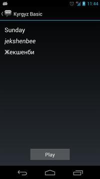 Kyrgyz Basic Phrases apk screenshot