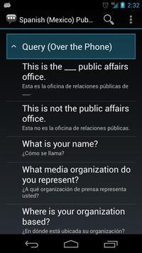 Spanish (Mexico) Public Aff. apk screenshot