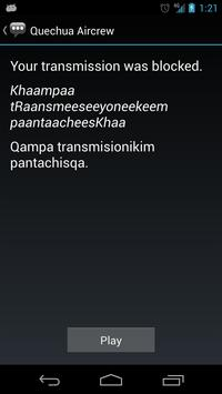 Quechua Aircrew Phrases apk screenshot