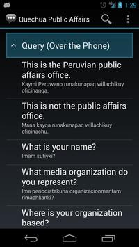 Quechua Public Affairs Phrases apk screenshot