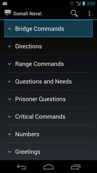 Somali Naval Phrases apk screenshot