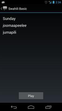 Swahili Basic Phrases apk screenshot