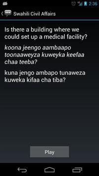 Swahili Civil Affairs Phrases apk screenshot