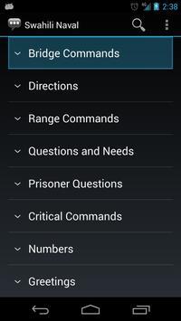 Swahili Naval Phrases apk screenshot