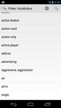 Poker Vocabulary apk screenshot