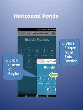 Rondo Browser - easy one hand apk screenshot