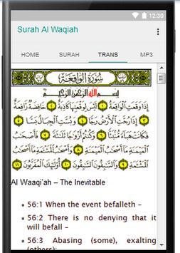 Surah Al Waqiah Plus Audio apk screenshot