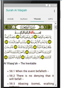 Surah Waqiah MP3 Translations apk screenshot