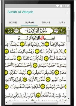 Surah Al Waqiah With MP3 apk screenshot