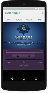 Surah Yaseen Translation MP3 apk screenshot