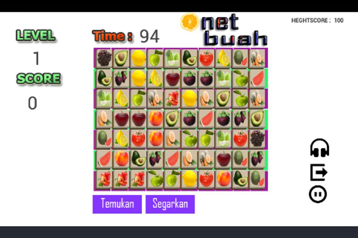 Game onet fruit -  Onet Buah Fruit Classic Apk Screenshot