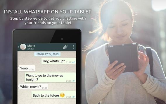 Guide for whatsapp in tablets poster