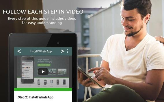 Guide for whatsapp in tablets apk screenshot
