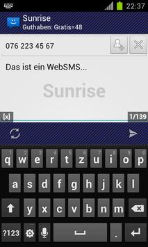 WebSMS: Sunrise Connector poster
