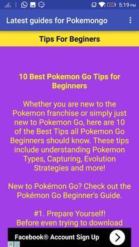Latest Guides For Pokemon GO apk screenshot