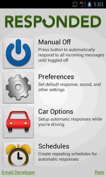 Responded (Auto Text Response) poster
