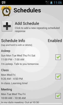 Responded (Auto Text Response) apk screenshot