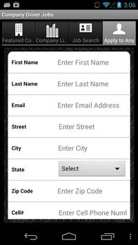 Company Driver Jobs apk screenshot