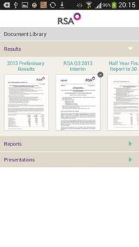 RSA Investor Relations App apk screenshot