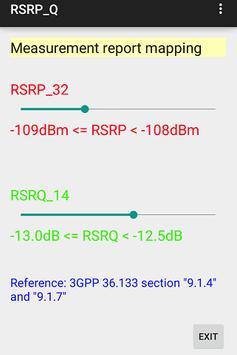 RSRP/RSRQ report mapping apk screenshot