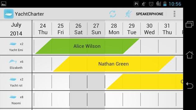 Yacht Calendar - Schedule Plan poster