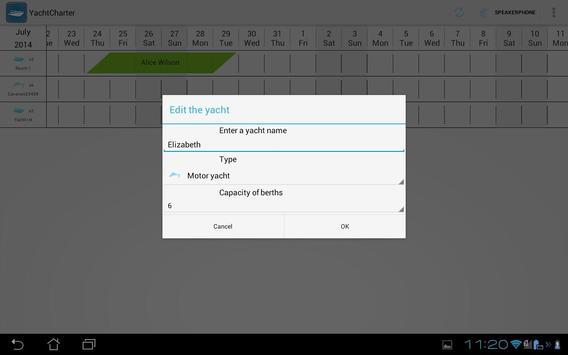 Yacht Calendar - Schedule Plan apk screenshot
