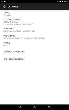 Star WebPRNT Browser (Free) apk screenshot