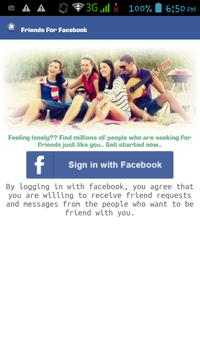 Friends for Facebook poster