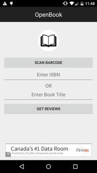 OpenBook - Book Reviews poster