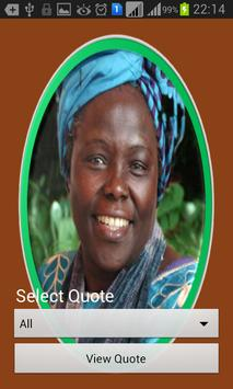 Wangari Maathai Quotes apk screenshot