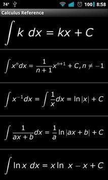 Calculus Reference apk screenshot