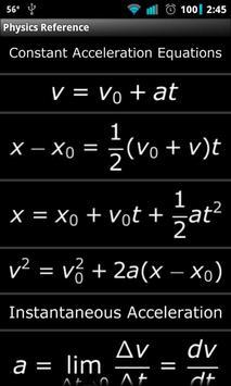 Physics Reference apk screenshot