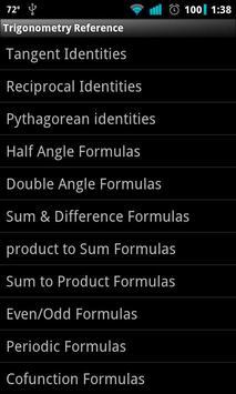 Trigonometry Reference poster