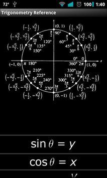 Trigonometry Reference apk screenshot