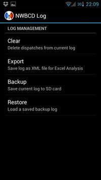NWBCD Log apk screenshot