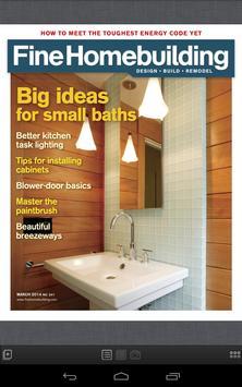 Fine Homebuilding Magazine poster