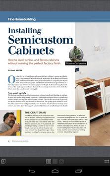 Fine Homebuilding Magazine apk screenshot