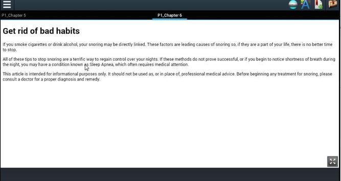 Stop Snoring Tips apk screenshot